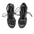 Senso Women's Valleri VI Leather Lace-up Heeled Sandals - Ebony: Image 2