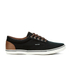 Jack & Jones Men's Vision Mix Canvas Pumps - Anthracite: Image 1