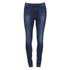 Vero Moda Women's Seven Slim Eye Jeans - Dark Blue Denim: Image 1