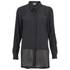 Vero Moda Women's Lotus Long Sleeve Long Shirt - Phantom: Image 1