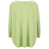 Cocoa Cashmere Women's Round Neck Longer Back Jumper - Lime: Image 2