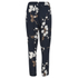 Ganni Women's Floral Trousers - Navy Japanese Flower: Image 2