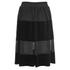 Ganni Women's Sheer Panel Skirt - Black: Image 2