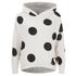 ONLY Women's Oversized Long Sleeve Hooded Sweatshirt - Cream/Black Spots: Image 1