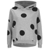 ONLY Women's Oversized Long Sleeve Hooded Sweatshirt - Grey Melange/Black Spots: Image 1