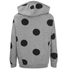 ONLY Women's Oversized Long Sleeve Hooded Sweatshirt - Grey Melange/Black Spots: Image 2