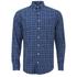 GANT Men's Tiebreak Twill Check Shirt - Marine: Image 1