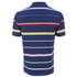 GANT Men's Multi Stripe Pique Polo Shirt - Persian Blue: Image 2