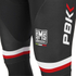 PBK Santini Replica Team Bib Tights - Red/White/Black: Image 3