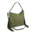 Diane von Furstenberg Women's Voyage Boho Nubuck Fringe Shoulder Bag - Olive: Image 2
