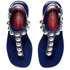 Marc by Marc Jacobs Women's Liv T Strap Leather Sandals - Navy: Image 2