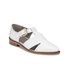 Hudson London Women's Liv Leather Pointed Toe Flats - White: Image 5