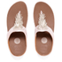 FitFlop Women's Cha Cha Leather/Suede Tassel Toe-Post Sandals - Silver: Image 7