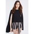 Lavish Alice Women's Cape Crop Top - Black: Image 2