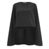 Lavish Alice Women's Cape Crop Top - Black: Image 1