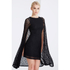 Lavish Alice Women's Lace Cape Mini Shift Dress - Black: Image 2