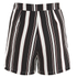 Lavish Alice Women's Stripe Tie Side Shorts - Black/Cream/Burgundy: Image 4