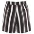 Lavish Alice Women's Stripe Tie Side Shorts - Black/Cream/Burgundy: Image 4