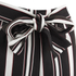 Lavish Alice Women's Stripe Tie Side Shorts - Black/Cream/Burgundy: Image 5