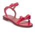 REDValentino Women's Eyelet Bow Flat Sandals - Fuchsia: Image 2