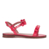 REDValentino Women's Eyelet Bow Flat Sandals - Fuchsia: Image 1