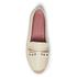 REDValentino Women's Eyelet Bow Leather Espadrilles - White: Image 3