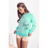 Wildfox Women's Baggy Beach Jumper B Is For - Mint Chip: Image 2