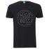 BOSS Green Men's Tee 1 Logo T-Shirt - Black: Image 1