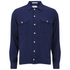 GANT Rugger Men's Slub Flannel Army Long Sleeve Shirt - Thunder Blue: Image 1