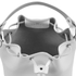 Grafea Women's Leather Tassel Bucket Bag - White: Image 4