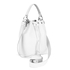 Grafea Women's Leather Tassel Bucket Bag - White: Image 2