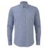 BOSS Orange Men's Edipoe Patterned Long Sleeve Shirt - Navy: Image 1