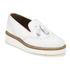 Grenson Women's Kat Leather Tassel Loafers - White: Image 5