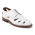 Grenson Women's Wilma Grain Leather Flats - White: Image 5