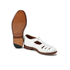 Grenson Women's Briony Grain Leather Cut-Out Buckle Flats - White: Image 6