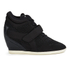 Ash Women's Bebop Knit Wedged Trainers - Black/Black: Image 1