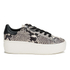 Ash Women's Cult Leather Flatform Trainers - Roccia/Black: Image 1