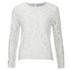 Diane von Furstenberg Women's Belle Emb Long Sleeve Lace Top - White: Image 1