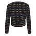 Diane von Furstenberg Women's Alberta Jacket - Black/Pop Violet Multi: Image 2
