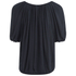 VILA Women's Licia Short Sleeve Blouse with Tie Detail - Total Eclipse: Image 2
