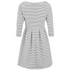 VILA Women's Shale Sailor 3/4 Sleeve Dress - Pristine: Image 2