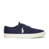 Polo Ralph Lauren Men's Faxon Canvas Trainers - Newport Navy/ Ultra Lime: Image 1