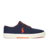 Polo Ralph Lauren Men's Faxon Low-Ne Canvas Trainers - Navy: Image 1