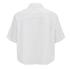 T by Alexander Wang Women's Cotton Poplin Cropped Short Sleeve Shirt - Sky: Image 2