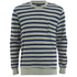 OBEY Clothing Men's Cypress Park Crew Sweatshirt - Navy/Green: Image 1