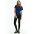 OBEY Clothing Women's Raven Palm Fan Short Sleeve Shirt - Navy Multi: Image 2