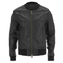 AMI Men's Zipped Teddy Jacket - Black: Image 1