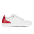 AMI Men's Low Top Trainers - White/ Red: Image 1