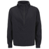 AMI Men's Hooded Half Zipped Jacket - Black: Image 1