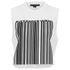Alexander Wang Women's Cropped Logo Barcode Tank Top - Silica And Onyx: Image 1